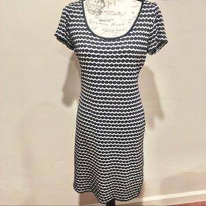Max Studio Knit Dot Midi Dress